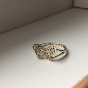 10K Gold Butterfly Ring